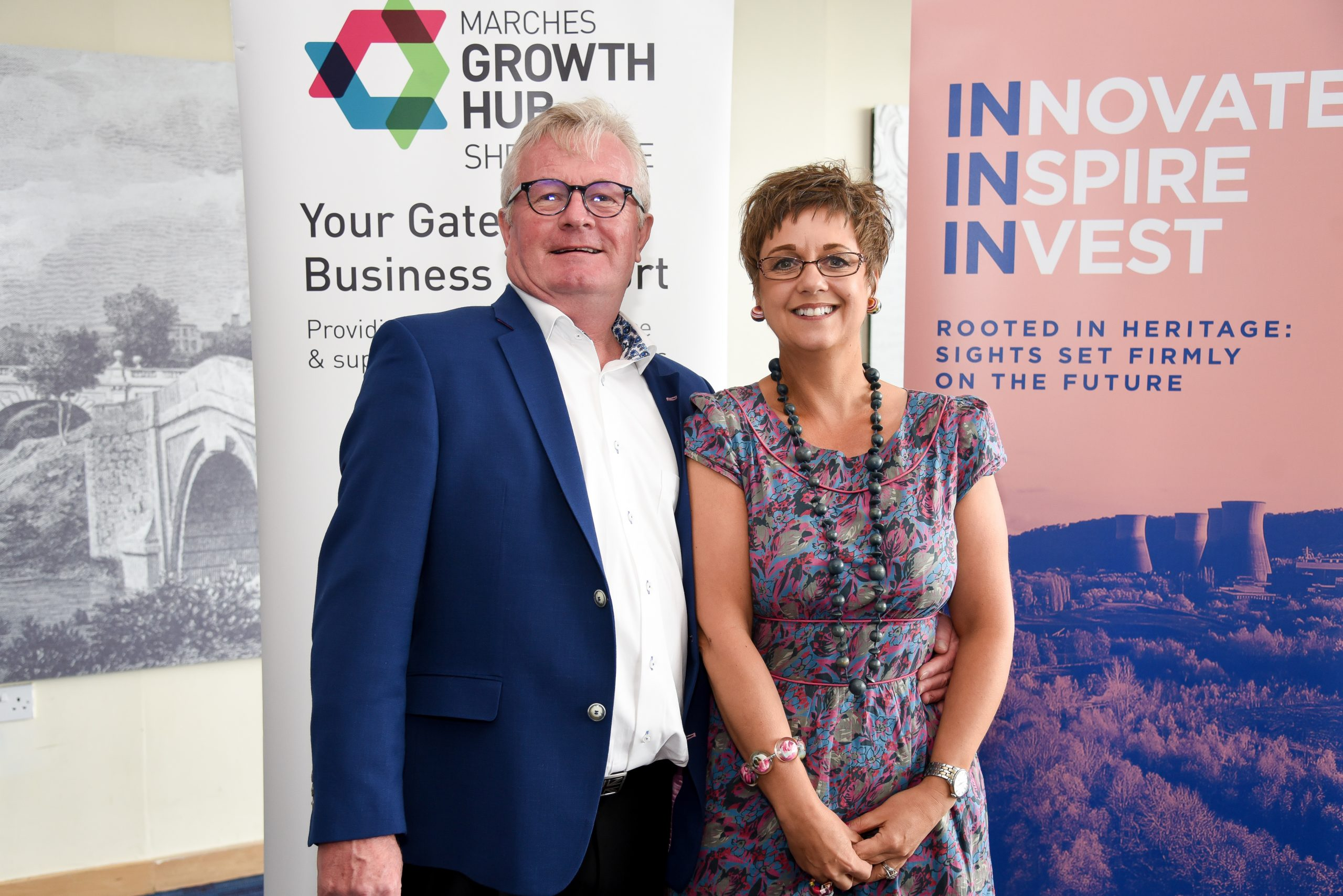 1._Marches_Growth_Hub_chairman_Paul_Hinkins_and_Marches_Growth_Hub_Shropshire_manager_Emma_Chapman