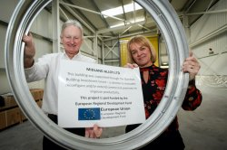 MBIG_programme_manager_Caroline_Cattle_with_Paul_Beirne_of_Midland_Alloy_web