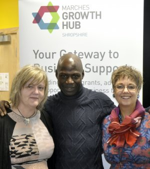 Lucas_Karemo_with_Anna_Sadler__left__and_Emma_Chapman_from_the_Marches_Growth_Hub_Shropshire