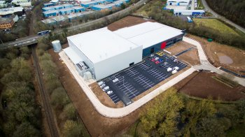 An aerial view of the new Polytec site in Telford web