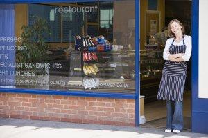 Retail Woman in doorway